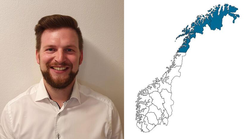 contact person, sales representative, profile and map, Paul-Erik Markussen, NO