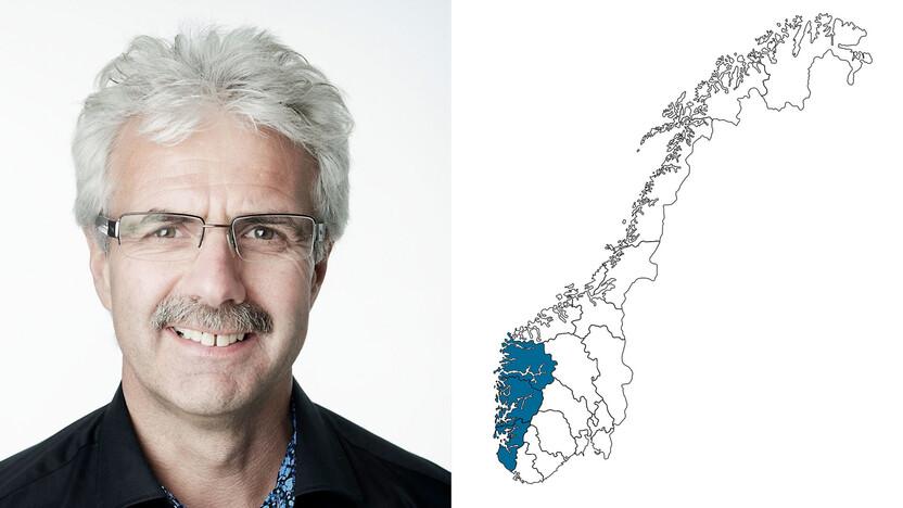 contact person, sales representative, profile and map, Yngve Hagen, NO