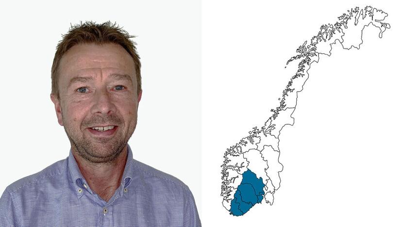 contact person, sales representative, profile and map, Espen Larsen, NO