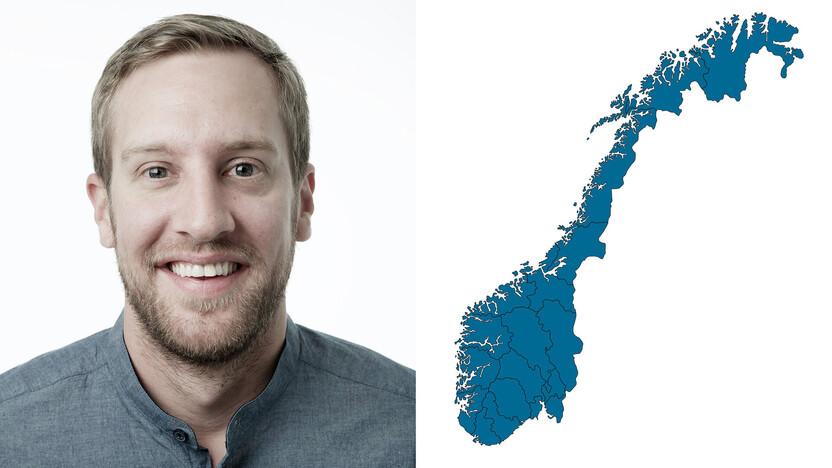 contact person, customer services, profile and map, Aleksander Engebretsen, NO