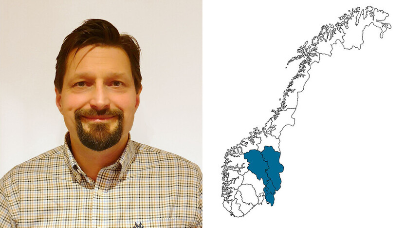 contact person, sales representative, profile and map, Bjørn Egge, Bjorn Egge, Rockfon, NO