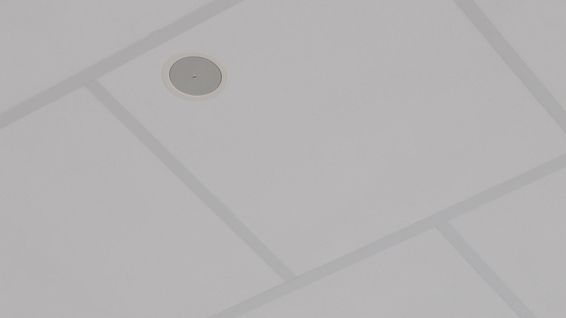Produkter på bildet: Rockfon® Boxer™, AEX, 1200 x 1200
